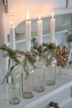 Skandinavisk jul – den vackraste julen är naturligt grön (och vit) – Scandinavian Christmas – the most beautiful Christmas is naturally green (and white) – # is Scandinavian Christmas Decorations, Beautiful Christmas Decorations, Homemade Christmas Decorations, Farmhouse Christmas Decor, Rustic Christmas, Christmas Candles, Victorian Christmas, Modern Christmas, Holiday Decorations