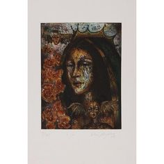 NOVICA Signed Modern Print of the Virgin Mary from Mexico (1.100 NOK) ❤ liked on Polyvore featuring home, home decor, wall art, brown, modern and freestyle, paintings, textured painting, modern wall art, novica home decor and modern home decor