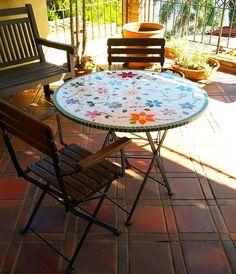 Mesas de Mosaico em São Paulo – Na casa do cliente – Além da Rua Atelier