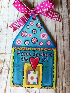 Home and Heart Christmas Ornament by evesjulia12 on Etsy, $22.00