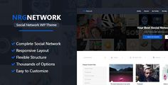 Buy NRGNetwork - Responsive Social Network WordPress Theme by NRGThemes on ThemeForest. NRGNetwork is a responsive and modern social network WordPress theme allowing you to create your very own social net. Social Networks, Social Media, Best Social Network, Design Social, Theme Template, Html Website Templates, Themes Free, Web Themes, Responsive Layout