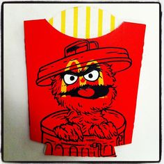 Cartoon Characters Painted Onto McDonalds Packaging By Ben Frost