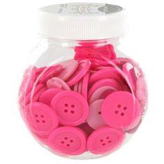 Pink Button Jar   Shop Hobby Lobby $2.49