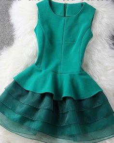 #221 Multilayers Princess Slim Dress – Dresses Up