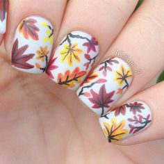 "nailpornography: ""autumn leaves Fall NOTW inspiration! """