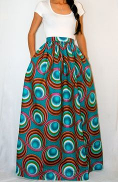 I'm in love with bold print, pocket, maxi skirts. Love, love, love.