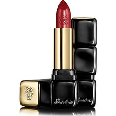 Guerlain KissKiss Lipstick ($37) ❤ liked on Polyvore featuring beauty products, makeup, lip makeup, lipstick, beauty, lip, accessories, red insolence, red lip makeup and guerlain lipstick