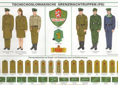 Uniforms and insignia of the Czechoslovak Socialist Republic Border Guard (Pohraniční Stráž)