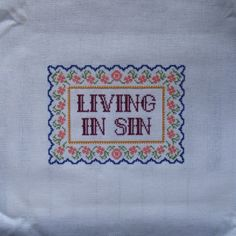 Leven in zonde Cross Stitch patroon van hardcorestitchcorps op Etsy