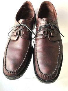36cec2d4ff9b Rockport Mens Shoes Size 10 M Leather Lace Up Wingtip Oxfords Burgundy