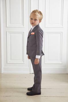 marie chantal grey suit boys wedding attire