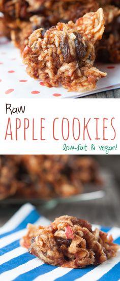 Raw Apple Cookies | ShineWithNature.com | #lowfat #801010 #vegan
