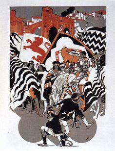 Duilio Cambellotti (1929 e 1930) - Comparsa della Contrada della Lupa