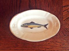 Antique Kuznetsov porcelain fish plate Rare Vintage ceramic dish Russian porcelain Imperial table set Collectible figurine Memorabilia by TheGarageOffice on Etsy