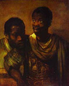 Rembrandt van Rijn Two Negroes