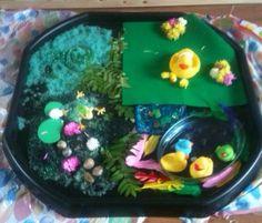 Sensory small world swamp tuff tray