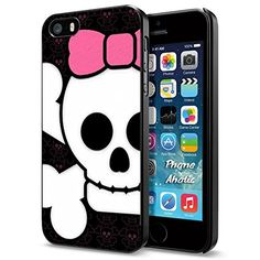 Pink Skull Bow collection #6, Cool iPhone 5 5s Smartphone Case Cover Collector iphone Black Phoneaholic http://www.amazon.com/dp/B00WA081WC/ref=cm_sw_r_pi_dp_jHLpvb19X9X6R