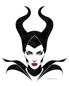 Iconic Maleficent by ratscape on DeviantArt Cool Art Drawings, Art Drawings Sketches, Disney Drawings, Cute Disney, Disney Art, Disney Fonts, Maleficent Art, Malificent, Disney Stencils