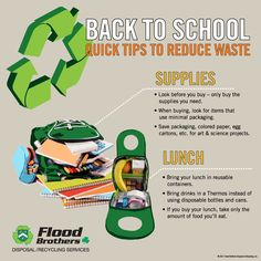 Back to School: Quick Tips to Reduce Waste Recycling Activities For Kids, Reduce Waste, Science Art, Back To School, Tips, Entering School, Back To College, Counseling