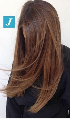 Straight brown hair to try on. Inspirierende Damen – Frisuren – NailiDeasTrends Straight brown hair to try on. Brown Hair Shades, Brown Hair With Blonde Highlights, Brown Hair Balayage, Hair Color Balayage, Hair Highlights, Carmel Brown Hair, Hair Color Brown, Carmel Hair, Light Brown Hair Colors