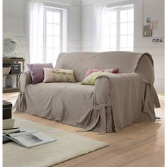 housse de canapé en lin Copripoltrona lino/cotone, JIMI | divano rosa | Pinterest | Tela housse de canapé en lin