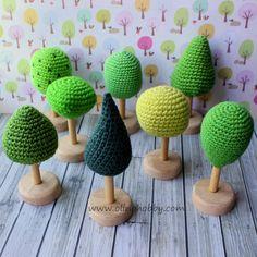 OlinoHobby: crochet trees