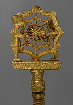 Linguist Staff (Oykeame) [Ghana; Akan, Asante] (1986.475a-c) | Heilbrunn Timeline of Art History | The Metropolitan Museum of Art