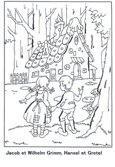 hansel si gretel coloring pages - photo#11