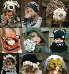 I want to make these in adult sizes.  Especially the red hood with the fox(?) ears?