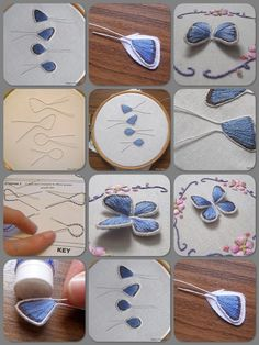 Wonderful Ribbon Embroidery Flowers by Hand Ideas. Enchanting Ribbon Embroidery Flowers by Hand Ideas. Embroidery Designs, Hand Embroidery Stitches, Silk Ribbon Embroidery, Embroidery Jewelry, Embroidery Techniques, Beaded Embroidery, Cross Stitch Embroidery, Flower Embroidery, Hand Stitching