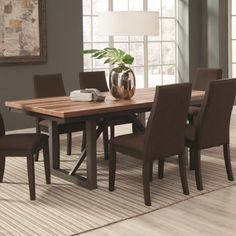 Coaster Spring Creek Dining Table with 18'' Extension Leaf - Coaster Fine Furniture
