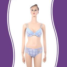 High qulity european style breathable blue white plaid lace sexy girl panty bra Best Seller follow this link http://shopingayo.space