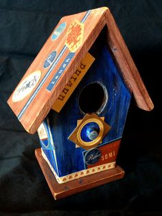Decorative Quirky Wooden Birdhouse by VagabondiaCreation on Etsy, $10.00