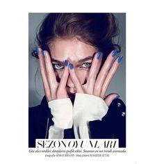 Samantha Gradoville Poses for Koray Birand in Harper's Bazaar Turkey... via Polyvore