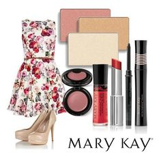 Celebrate Spring! Get this look crystalline, spun silk and precious pink mineral eye color. Sheer bliss cream cheek color. Nurishine lip gloss in rock n red, Firecracker true dimension lipstick. Add Lash Love mascara to complete your look!  Www.Marykay.com/mcampen