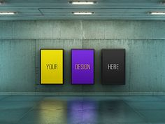 Poster Urban Subway Lightbox Mock-Ups by Kheathrow on Envato Elements Billboard, Mockup, Facade, Your Design, Planets, Graphic Design, Urban, Templates, Poster