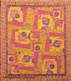 The Quickest Way to Make a BIG Quilt   Big block quilts, Nancy ... : sew big quilt blocks - Adamdwight.com