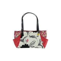 rectangular bag in red leather and fabric by iremabags on Etsy