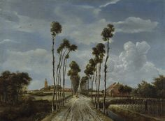 The Avenue at Middelharnis by Meindert Hobbema, oil on canvas