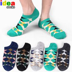 Autumn Breeze bule Awesome No ShowRunning Non-Slid Ankle Socks for boys