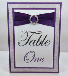 Purple Wedding Table Numbers Full of Bling, Sparkle, and Dazzle-Custom & Handmade on Etsy, $5.00