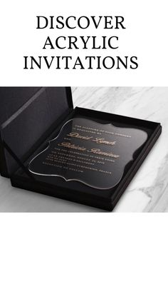 Acrylic Wedding Invitations, Wedding Invitation Samples, Luxury Wedding Invitations, Wedding Invitation Design, Black And White Wedding Invitations, Outdoor Weddings, Country Weddings, Romantic Weddings, Unique Weddings