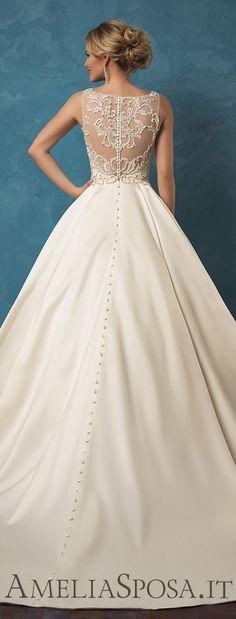Amelia Sposa 2017 Wedding Dress / http://www.himisspuff.com/top-100-wedding-dresses-2017-from-top-designers/12/  wedding dresses under 500