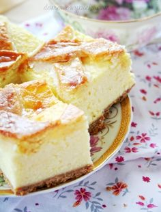 sernik_krakowski1 Polish Desserts, Polish Recipes, No Bake Desserts, Polish Food, Sweet Recipes, Cake Recipes, Kolaci I Torte, Good Food, Yummy Food