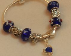 European Style Charm Bracelet in tones of from JnJHandmadeGifts