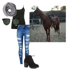 """""""When you really wanna ride and you don't care what your wearing"""" by horse-lover13 ❤ liked on Polyvore featuring interior, interiors, interior design, home, home decor, interior decorating, M&Co, WithChic, Red Herring and Spitfire"""