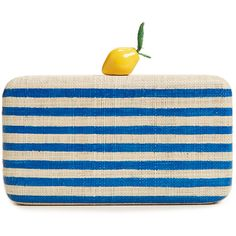 Designer Clothes, Shoes & Bags for Women Summer Handbags, Summer Purses, Straw Handbags, Blue Handbags, Blue Clutch, Blue Purse, Striped Bags, Types Of Bag, Evening Bags