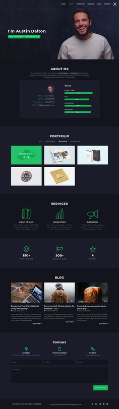 Atlas is clean and modern design #PSD template for #resume and personal #portfolio showcase website download now > https://themeforest.net/item/atlas-personal-portfolio-psd-template/19918129?ref=Datasata