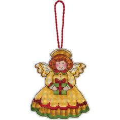Angel craft ornaments can easily bring cheer and joy to your Christmas tree, which is why this set of cross stitch ornaments is just what you need. Use your most colorful thread to bring these angelic Christmas ornament crafts to life. $5.94