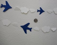 10Foot Airplane and Cloud Garland Disney's Planes by ZinzeeParade, $10.00